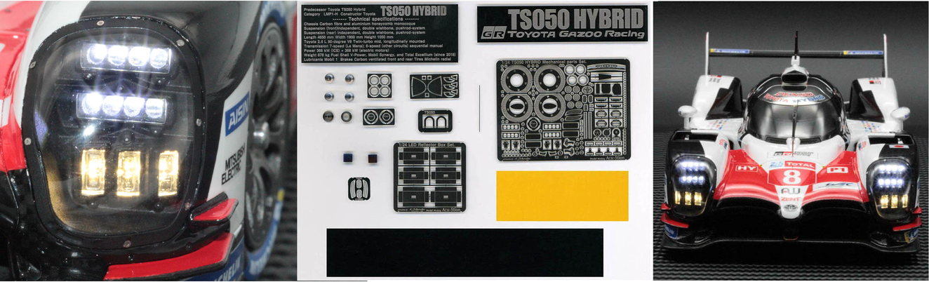 1/24 TS050 HYBRID LED+Full Set. & Each parts.