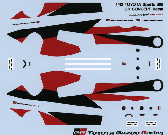 1/43 TOYOTA Sports 800 GR CONCEPT Decal