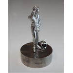 Metal figure of driver & helmet