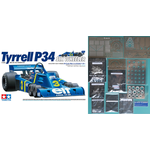 1/12 Tyrrell P34 11point Full Set. No.3 (Jody David Scheckter Type) + Kits