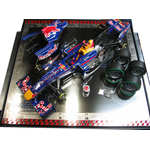 1/20 RB6 2010 FIA FORMULA WORLD CHAMPIONSHIP PLATE MAP RB6 Base Display case