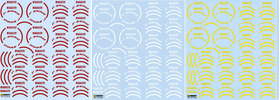 3point Color Tire decal Set.