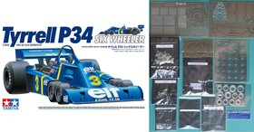 1/12 Tyrrell P34 11point Full Set. No.3 (Jody David Scheckter Type) + Kits