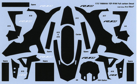 1/12 YAMAHA YZF-R1M Full carbon Decal