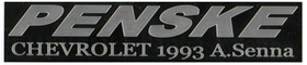 1/43 PENSKE CHEVROLET 1993 A.Senna name plate (Silver)