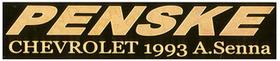 1/43 ペンスキー シボレー 1993 A.セナ キット ネームプレート(ゴールド)